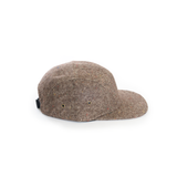 Brown - Tweed Wool Blank 5 Panel Hat for Wholesale or Custom
