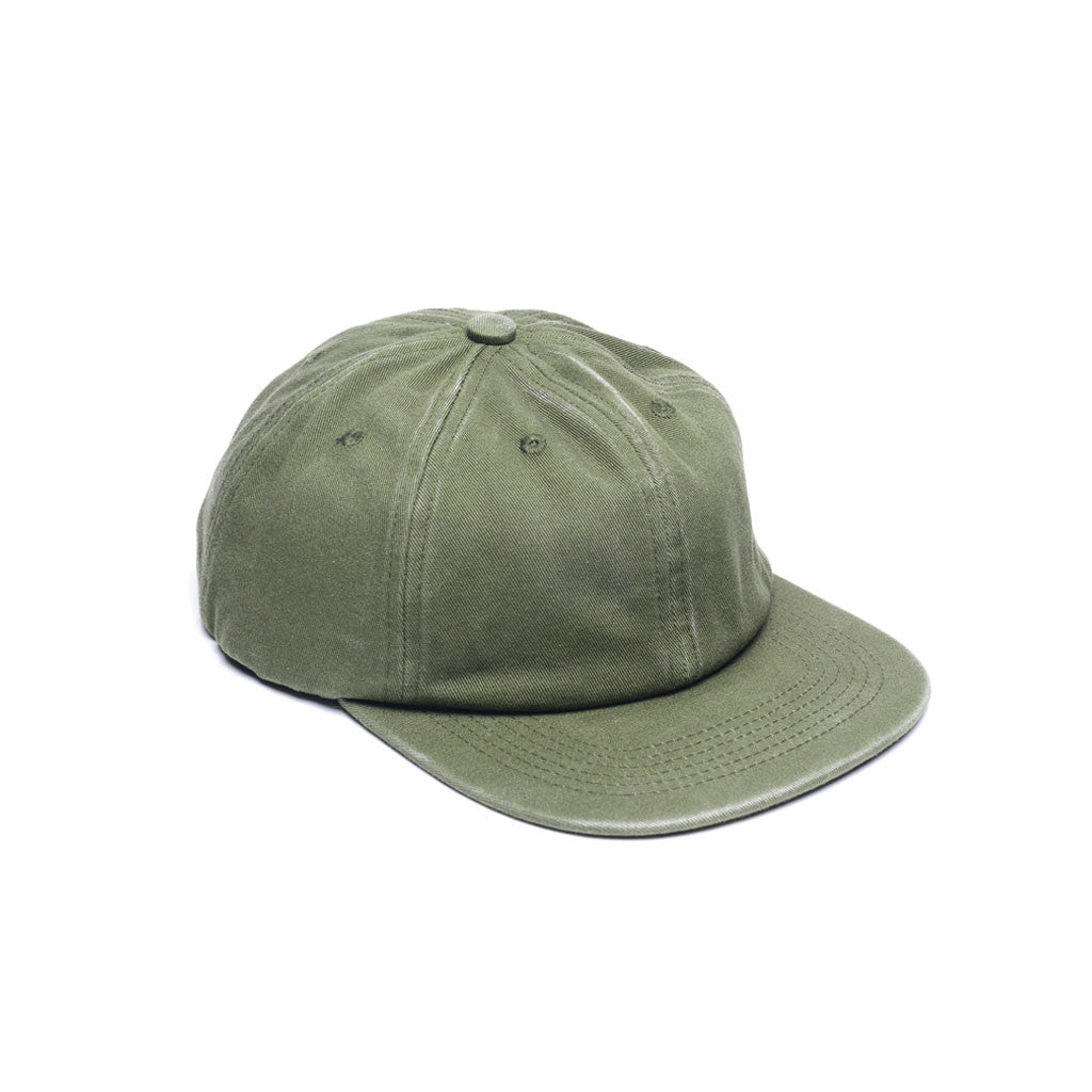 Army Green - Faded Unconstructed 6 Panel Hat for Wholesale or Custom