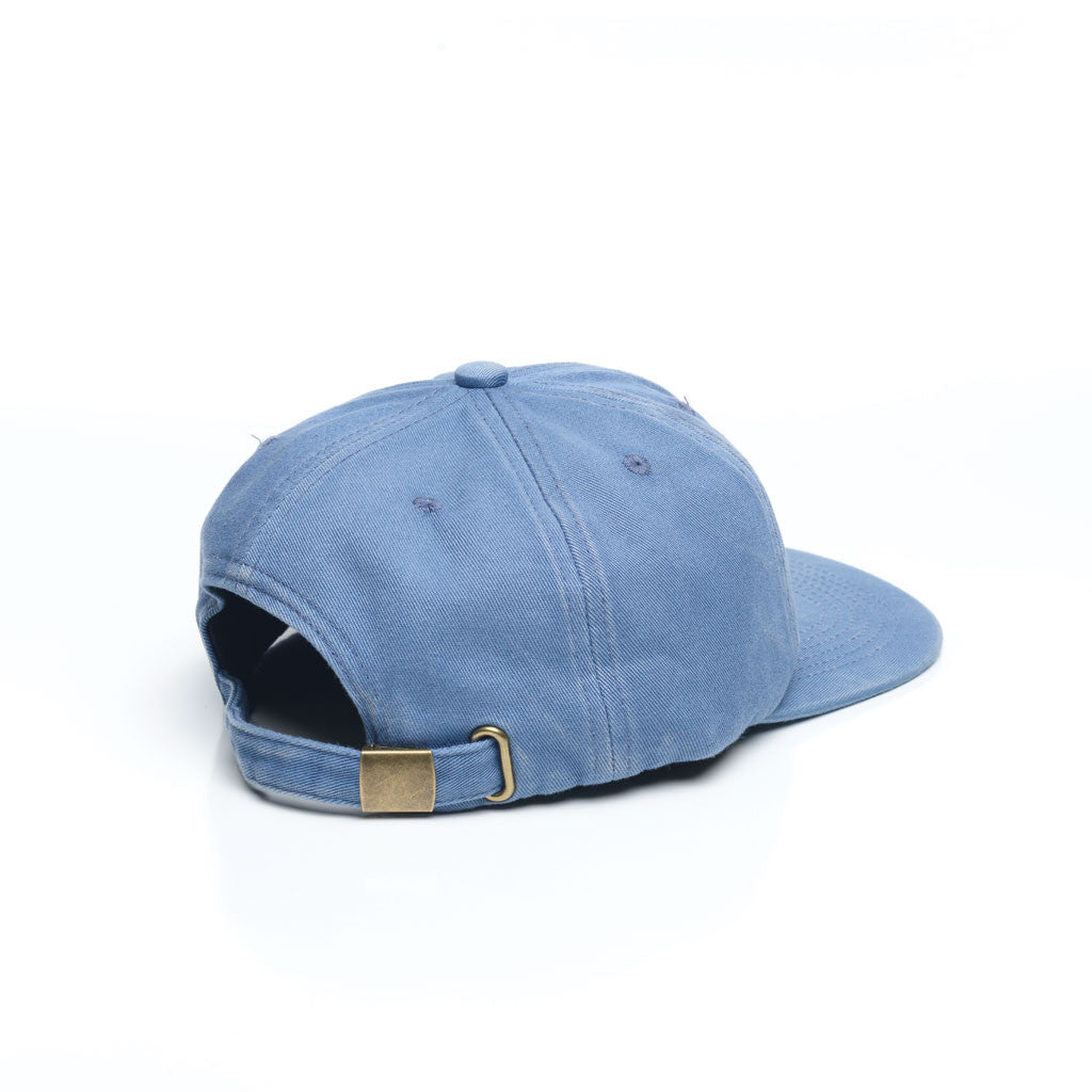 Baby Blue - Faded Unconstructed 6 Panel Hat for Wholesale or Custom