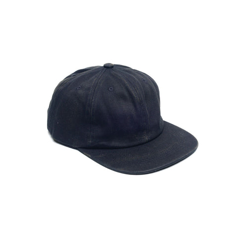 Black - Faded Unconstructed 6 Panel Hat for Wholesale or Custom