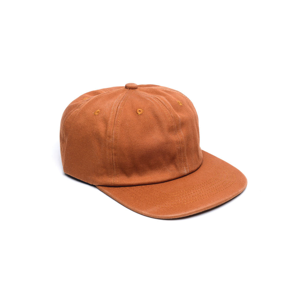 Burnt Orange - Faded Unconstructed 6 Panel Hat for Wholesale or Custom