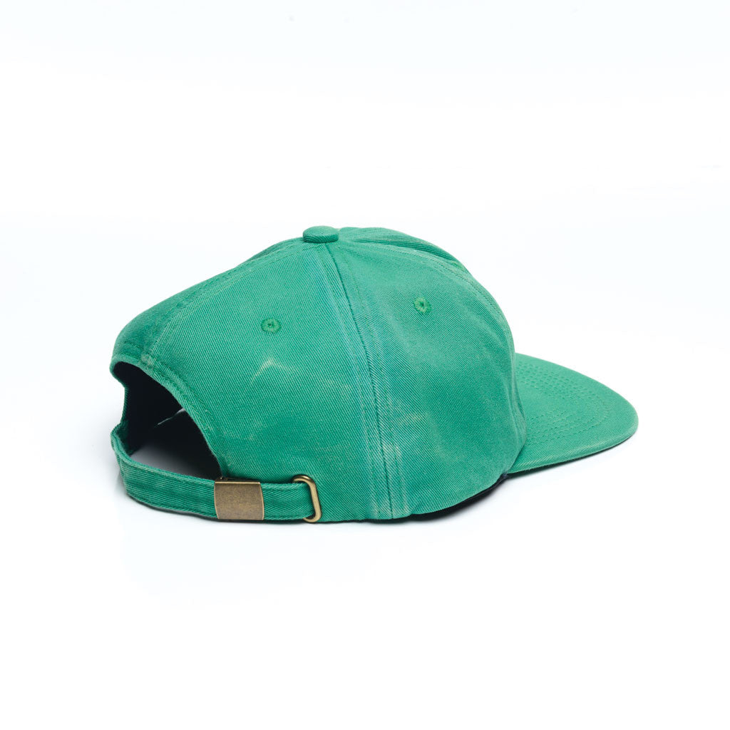 Kelly Green - Faded Unconstructed 6 Panel Hat for Wholesale or Custom