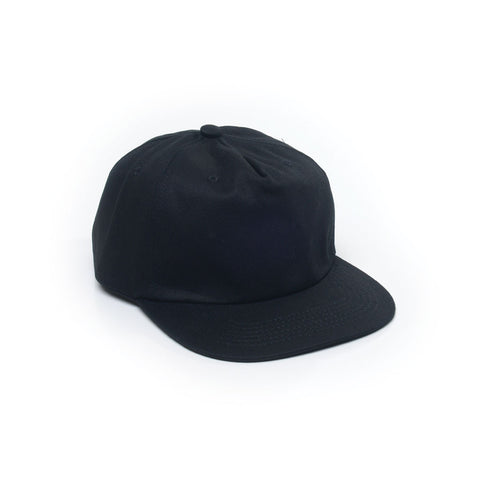 Unconstructed Floppy Hats Caps Retro Strapback Black