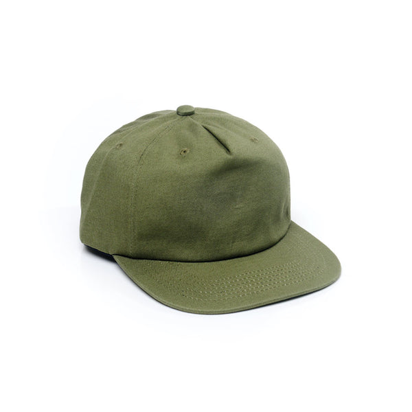 Unconstructed Floppy Hats Caps Retro Strapback Army Forest Green