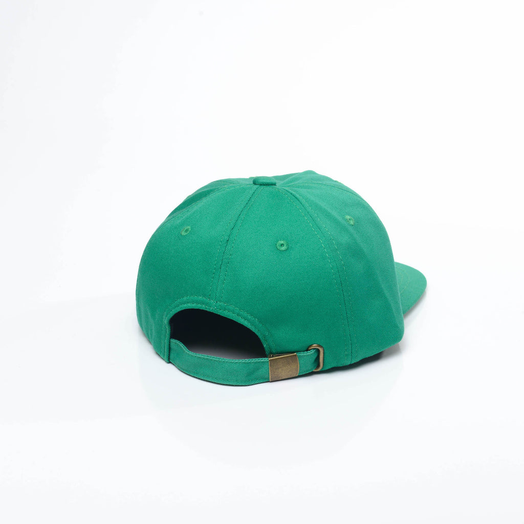 Kelly Green - Unconstructed 5 Panel Strapback Hat for Wholesale or Custom