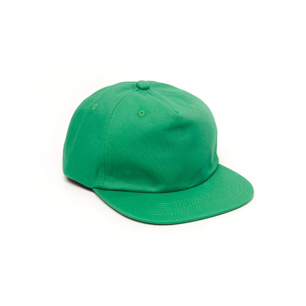 Unconstructed Floppy Hats Caps Retro Strapback Kelly Green