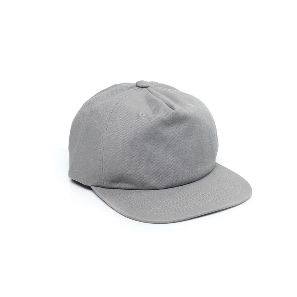 Light Grey - Unconstructed 5 Panel Strapback Hat for Wholesale or Custom 364d51249eb