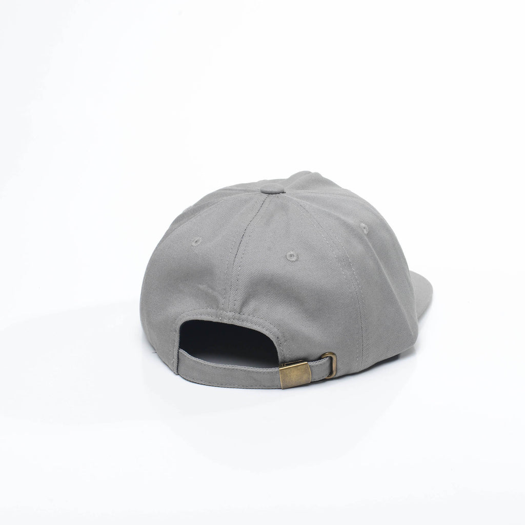 Light Grey - Unconstructed 5 Panel Strapback Hat for Wholesale or Custom