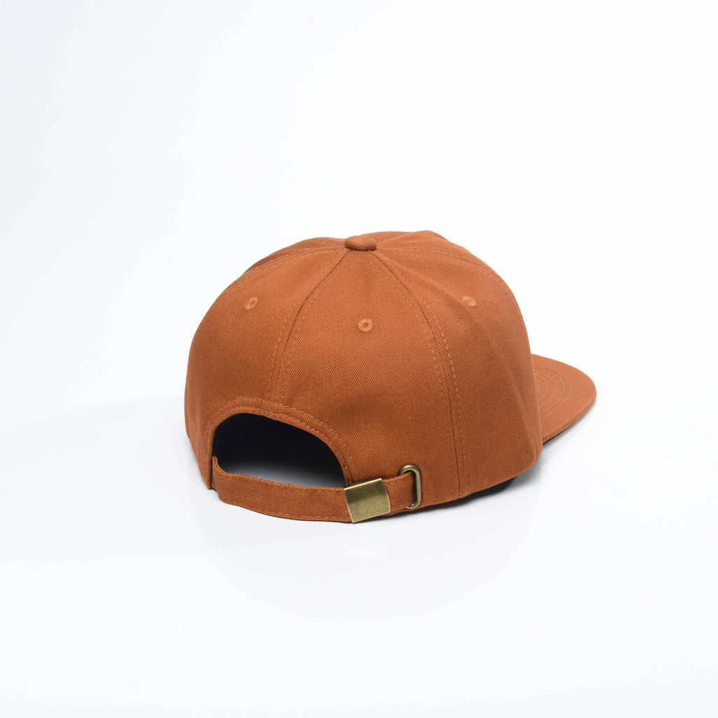 Rust - Unconstructed 5 Panel Strapback Hat for Wholesale or Custom