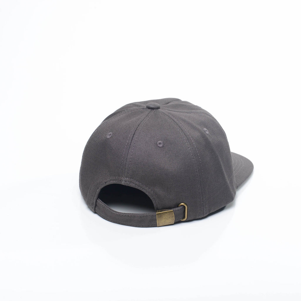 Slate Grey - Unconstructed 5 Panel Strapback Hat for Wholesale or Custom
