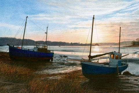 Daugleddau Sunrise with Two Boats