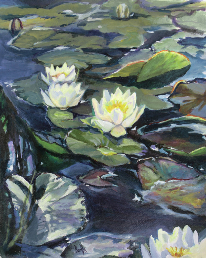 Sun and Shadows on Waterlilies