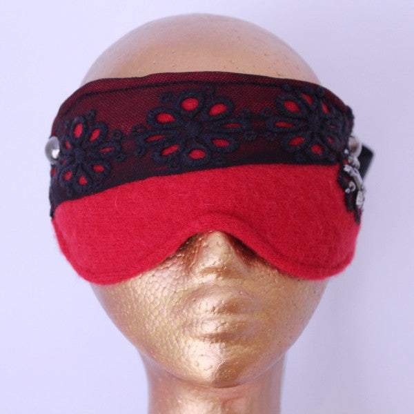 Red Cashmere Blindfold by Swoon Kink