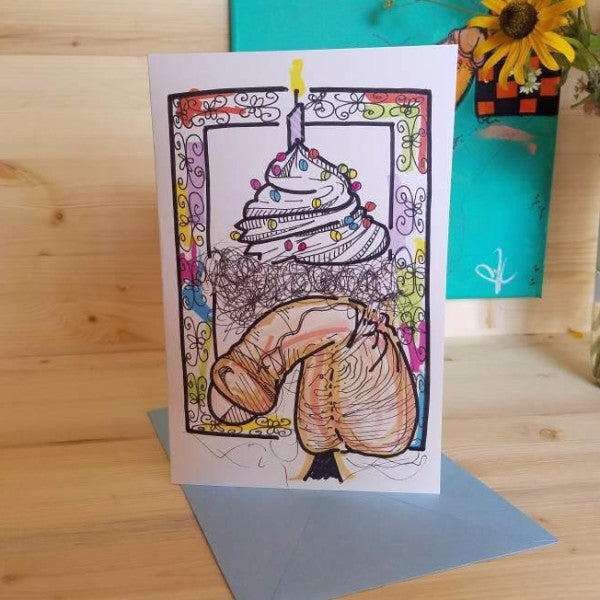 Cupcake Cock card by Her Dirty Dishes