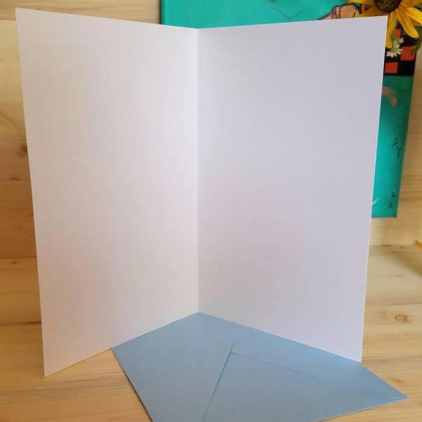 Greeting card inside blank by Her Dirty Dishes