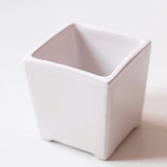 Herb Flower pot White