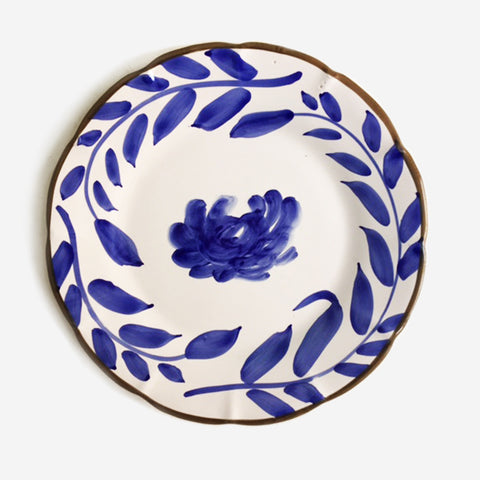 4x FIORE Blue Flower dinner plate