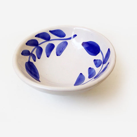 6x FIORE Blue flower (condimental) bowl