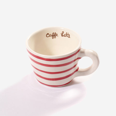 6x Low cup latte Red