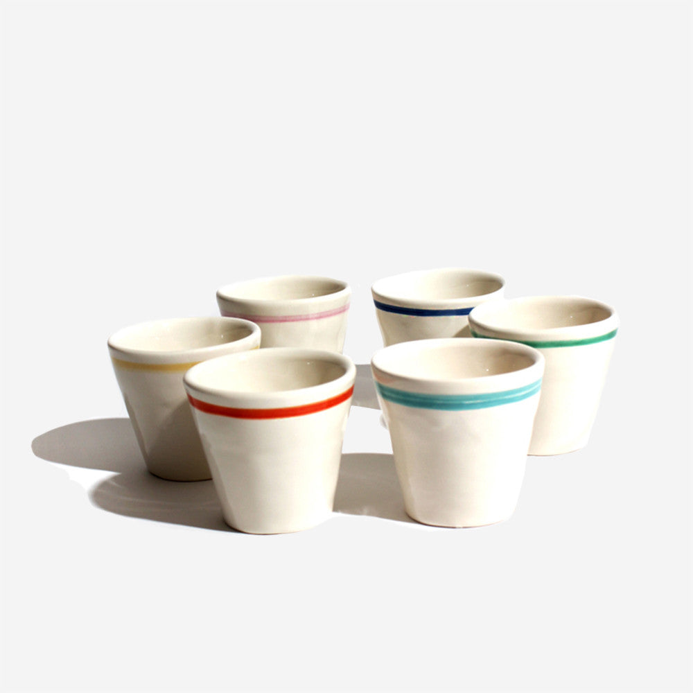6x Pisa cups (6 different colors)