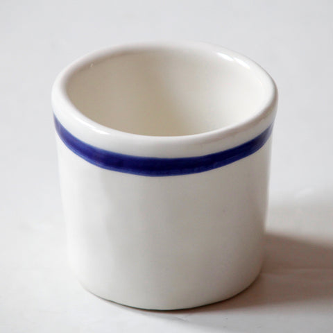 6x Expresso Cups with Blue stripes (New)