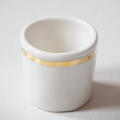 6x Expresso Cups with Gold stripes