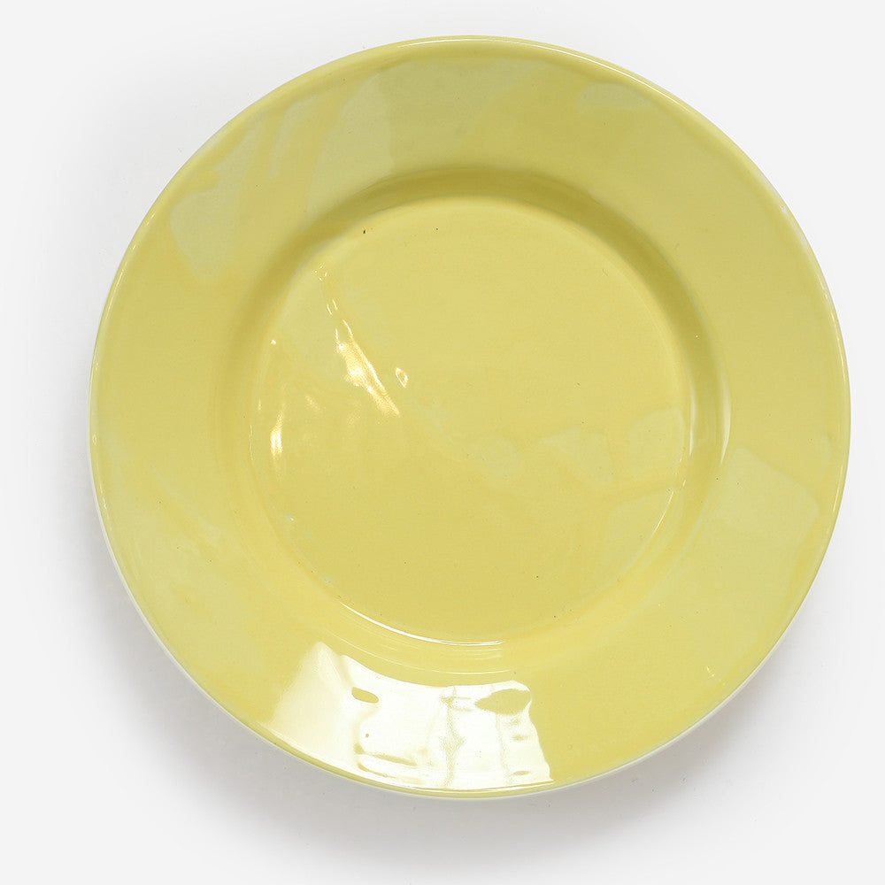 6x Small plate Yellow
