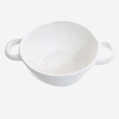 6x Soup pot /bowl ovensafe White
