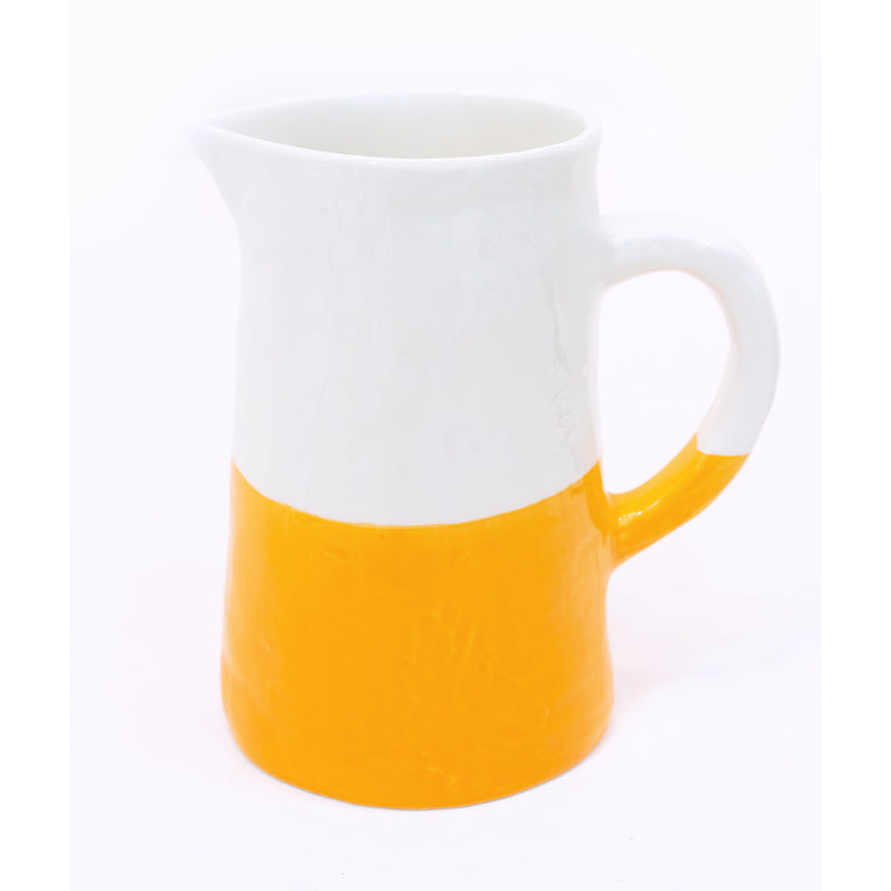 Large Jug/Pitcher Half & Half White/Orange