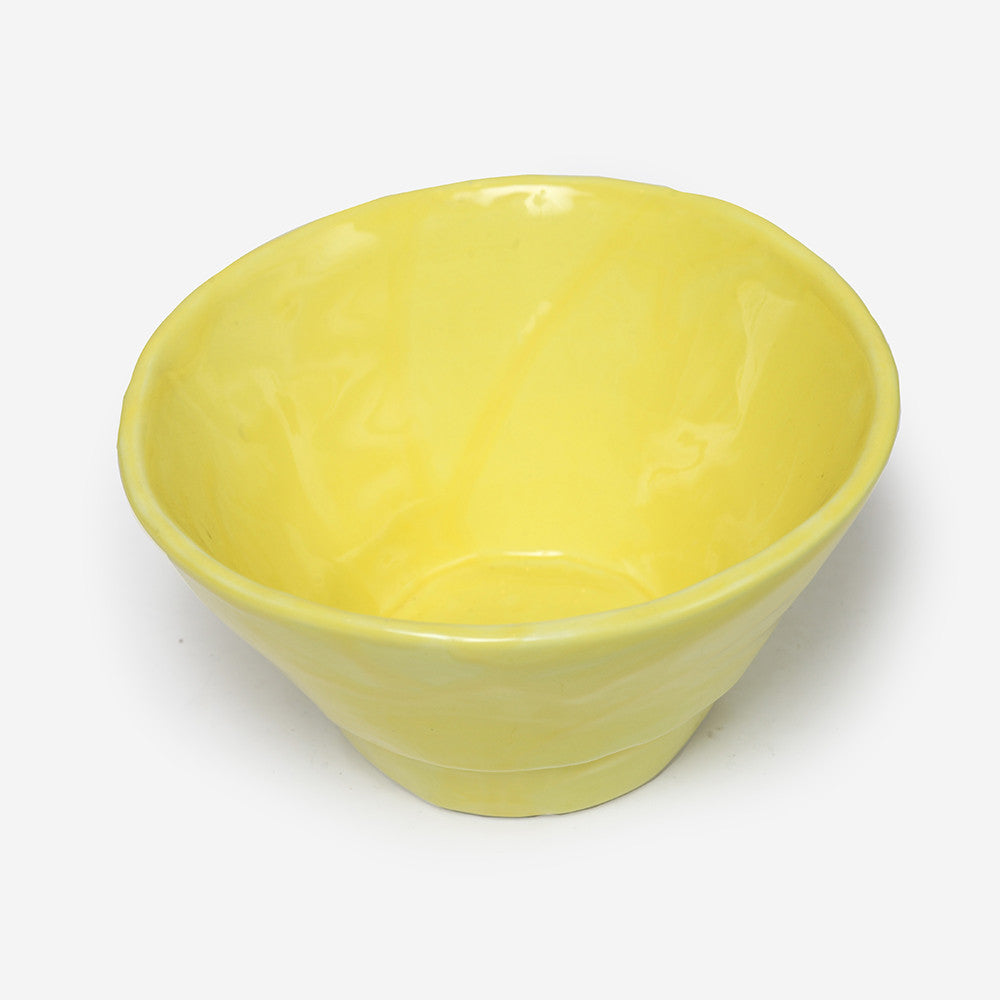 6x Small bowl Yellow