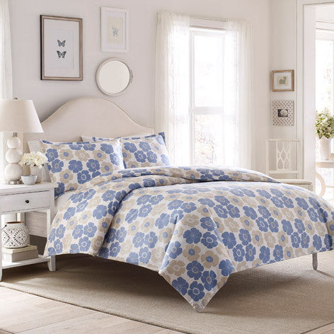 Poppy Bloom Flannel Duvet Set