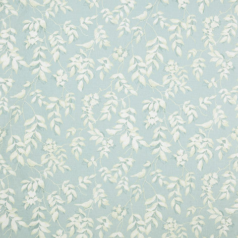 Blue & White Leaf Pattern Fabric
