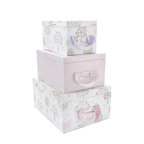 Esme Pink/Multi Storage Boxes With Lids