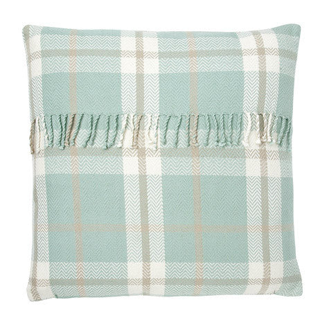 Hagan Check Duck Egg Cushion