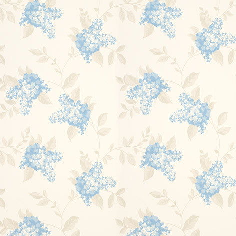 Blue & Ivory Wallpaper