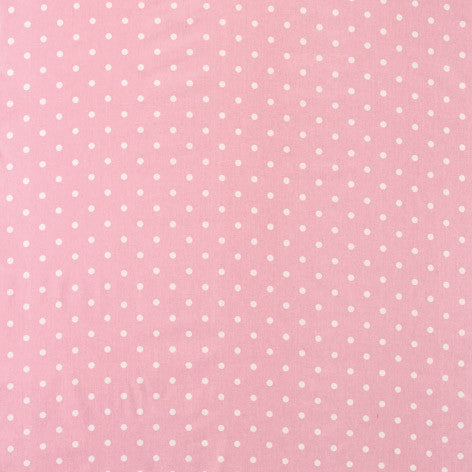 Pink Polka Dot Outdoor Fabric