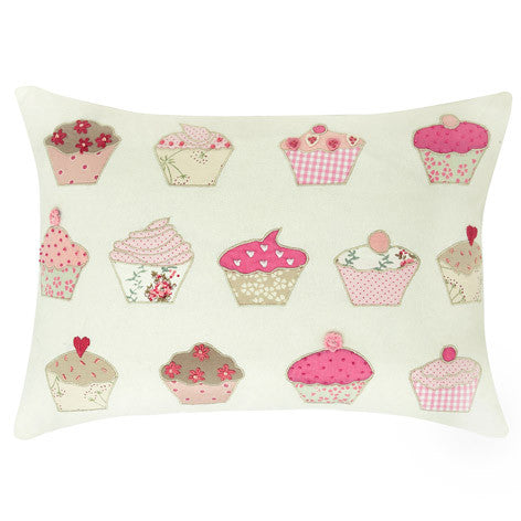 Cupcakes Applique Cushion