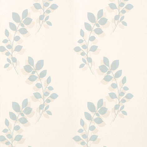 Melcombe Leaf Duck Egg Wallpaper