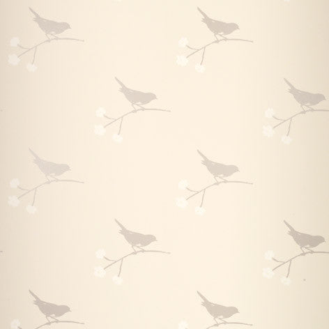 Nightingale Off White Wallpaper