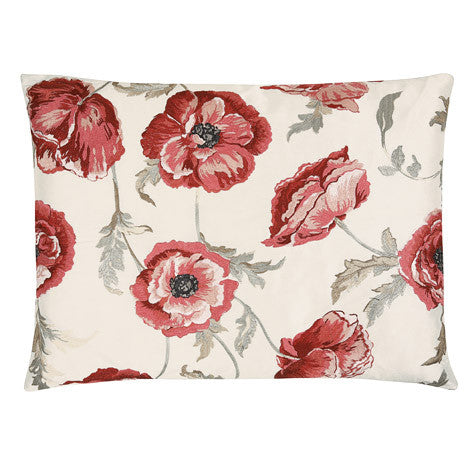 Freshford Poppy Red Cushion