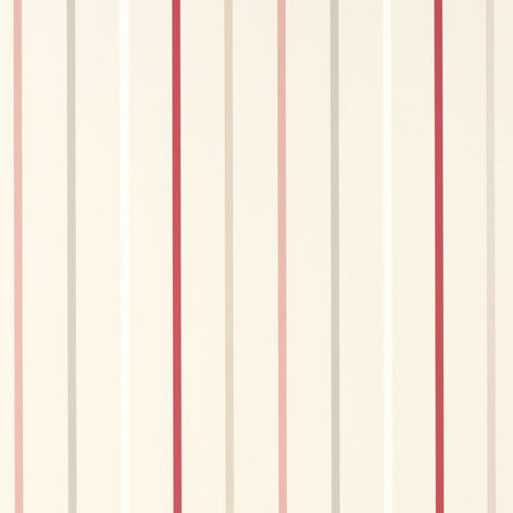 Draycott Stripe Cranberry Wallpaper