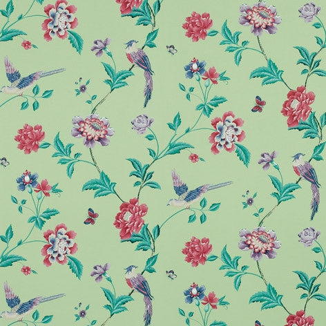 Elveden Celadon Wallpaper