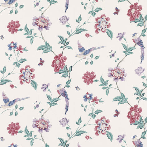Elveden Cranberry Wallpaper