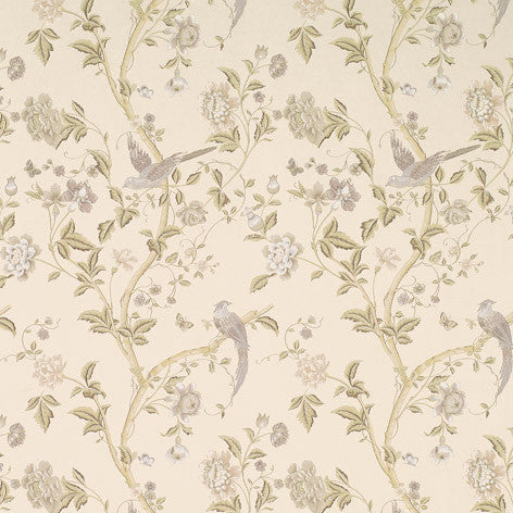 Floral Vines Off-White Wallpaper