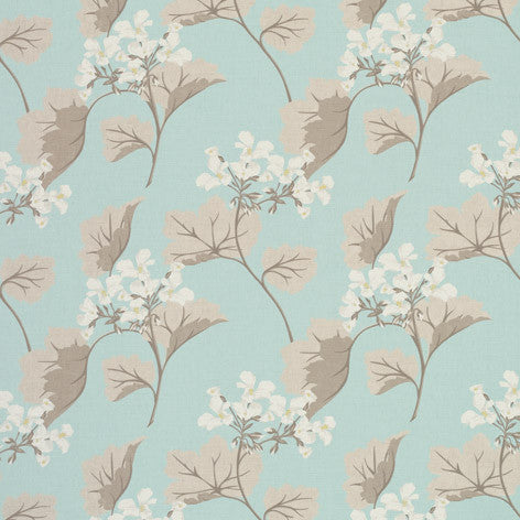 Millwood Leaf Duck Egg Fabric