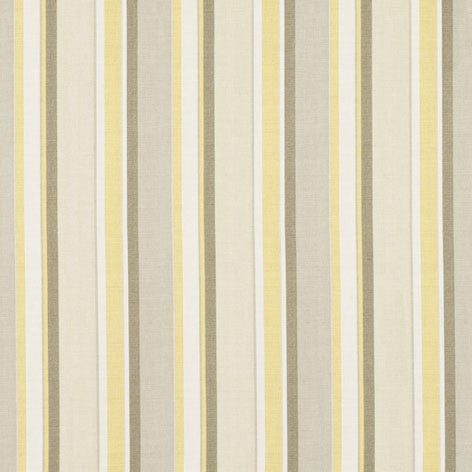 Yellow & Green Striped Curtain Fabric