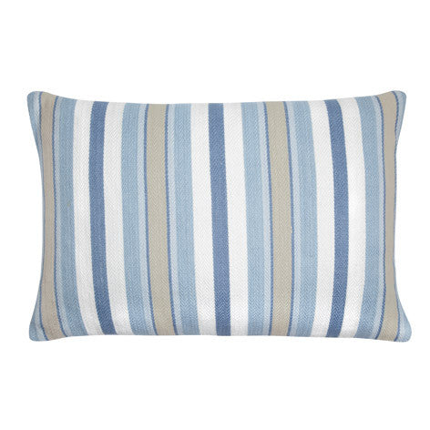 Croyde Stripe Seaspray Cushion