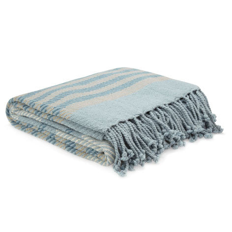 Shaldon Stripe Seaspray Throw