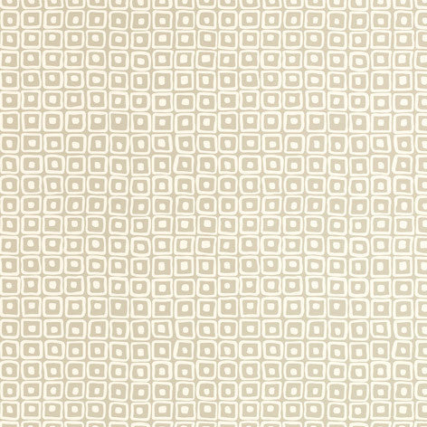 Funky Square Design Beige Wallpaper