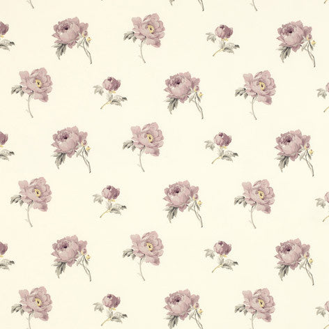 Pale purple & ivory home decorating fabric